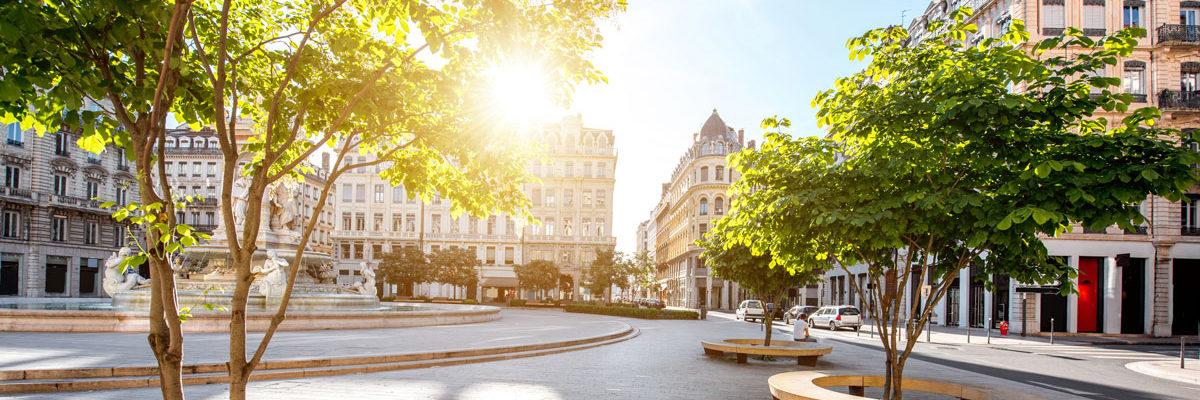 European city in heatwave